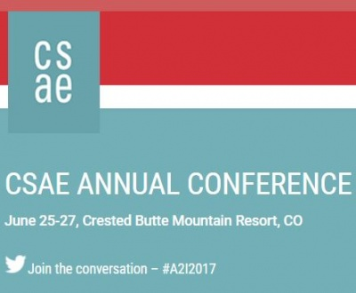 CSAE Annual Conference Announcement Screen Clip