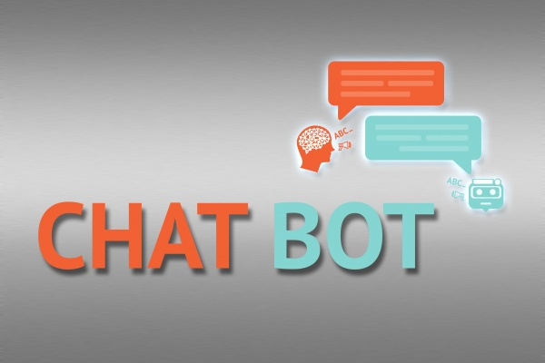 Chat bot , Robo everywhere and future marketing concept. Chatbot infographic and text with robots graphic background.