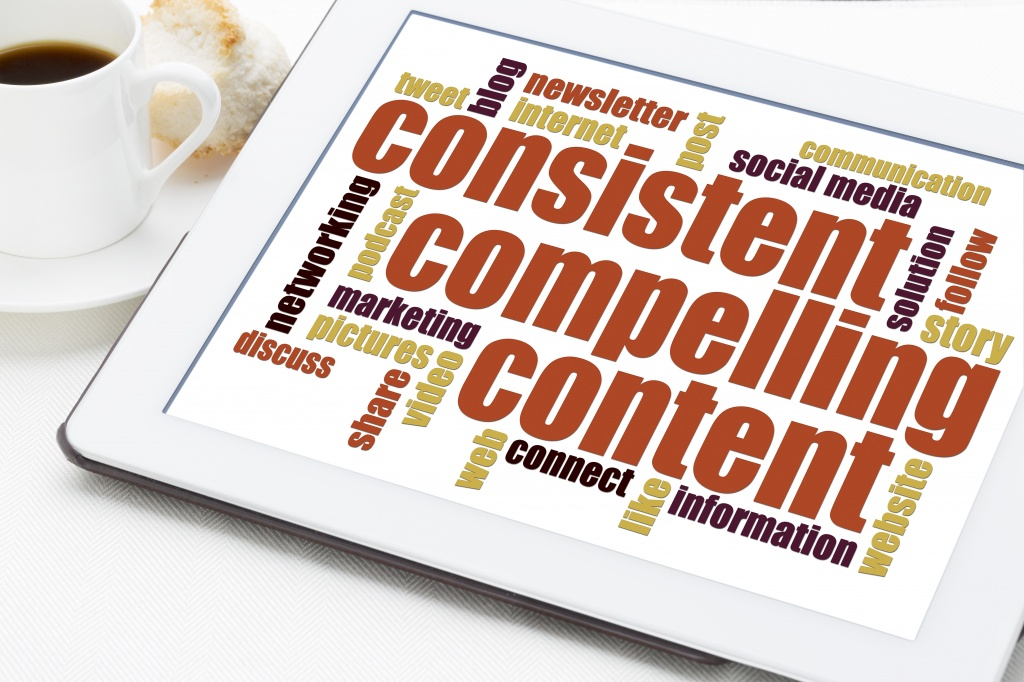 consistent, compelling content word cloud