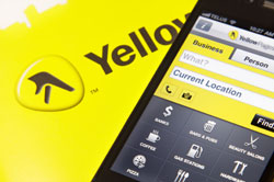 yellow pages with cell phone